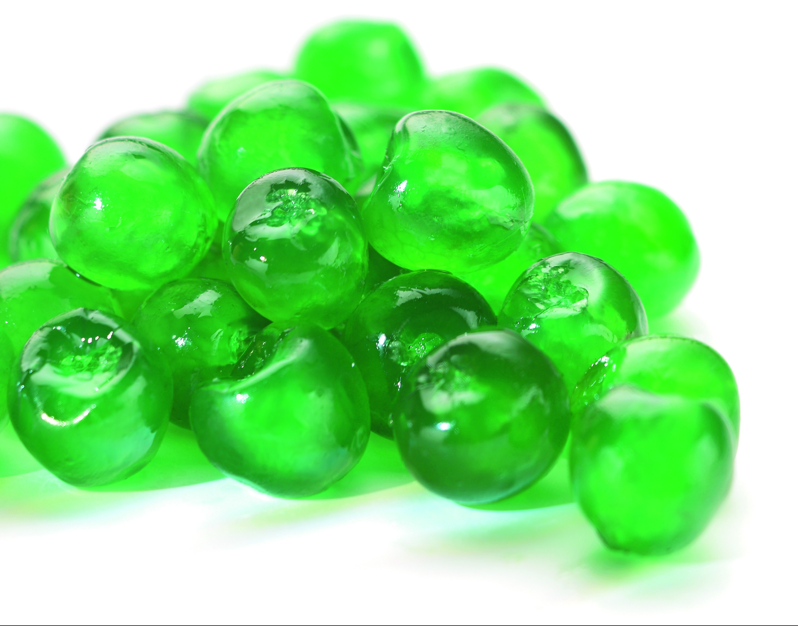 GREEN WHOLE GLACE CHERRIES-2-36094